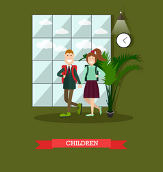 children concept in flat style vector image