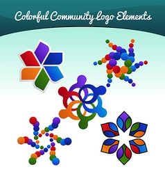 community logo vector image