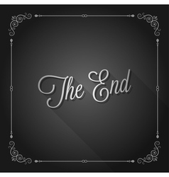 end sign movie ending frame vector image vector image
