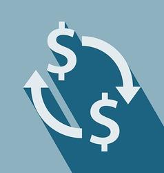 Exchange Money Icon vector image