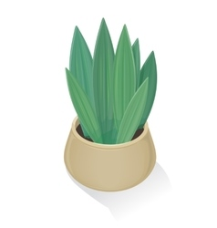 Flower in Pot Icon Green Nature Leaf Gardening vector image