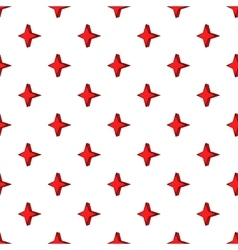 Four pointed star pattern cartoon style vector image vector image