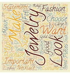 How To Choose Jewelry text background wordcloud vector image