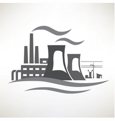 power plant traditional electricity production vector image