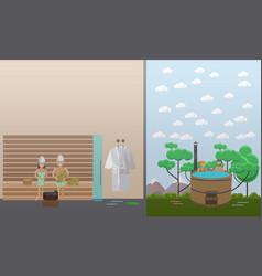 spa aqua therapy concept in vector image vector image