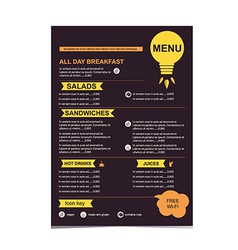 Cafe menu restaurant template design vector image