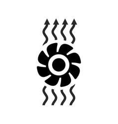 exhaust fan ventilation icon vector image vector image