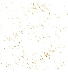 Gold grunge texture white vector image vector image