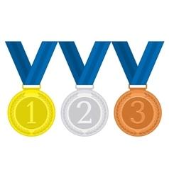 Gold Silver Bronze medal vector image