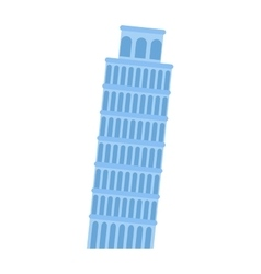 Leaning tower of pisa architecture landmark vector