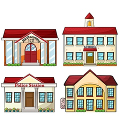 Useful buildings vector image vector image