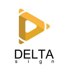 delta arrow logo vector image