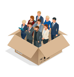 professional business team concept multi-cultural vector image vector image