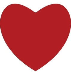 Red heart on white background vector image
