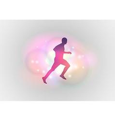 sport abstract runner vector image