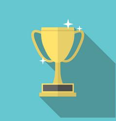 winner cup long shadow vector image vector image