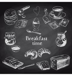 breakfast hand drawn set Vintage vector image vector image