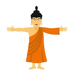 Buddha happy Indian god spread his arms in an vector image vector image