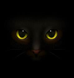 cat monster realistic composition vector image vector image