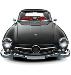 classic soft top convertible vector image vector image