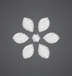 flower sketch logo doodle icon vector image