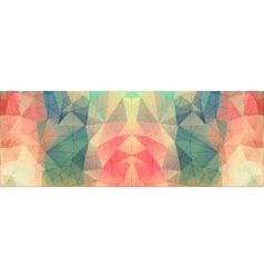 Geometric triangles on colorful background vector image vector image