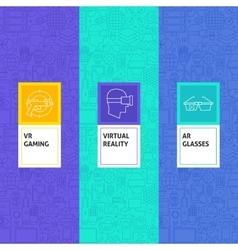 Line Virtual Reality Patterns Set vector image