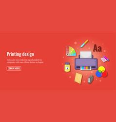 Print design banner horizontal man cartoon style vector