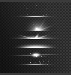 transparent white light streak effect background vector image