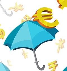 Umbrella Currency Symbols Finance vector image vector image