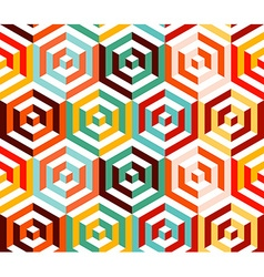 Abstract isometric 3d hexagon pattern background vector image
