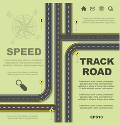 abstract roads background vector image