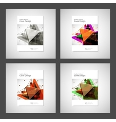 Abstract Triangle Brochure design Modern vector