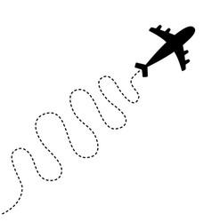 air plane icon black silhouette shape airplane vector image