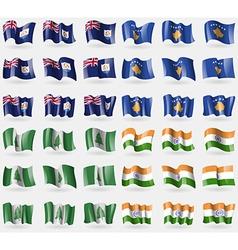 Anguilla Kosovo Norfolk Island India Set of 36 vector