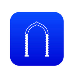 arch icon digital blue vector image