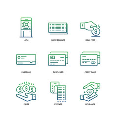 banking and finance icons vector image