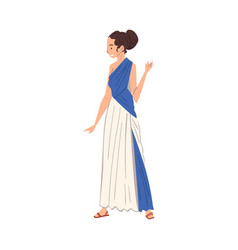 beautiful roman woman in traditional clothes vector image