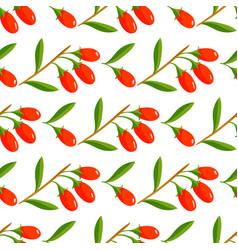 berries seamless pattern vegetarian with vector image