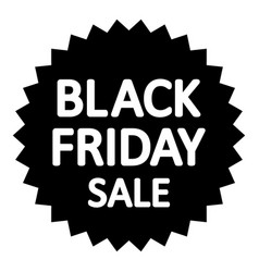 black friday sign vector image