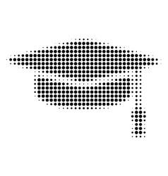 black pixel graduation cap icon vector image