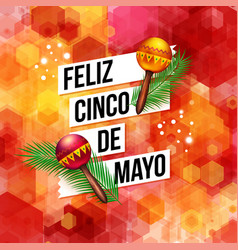 Bold dynamic fifth may mexican greeting card vector
