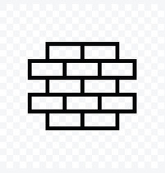 brick icon isolated on transparent background vector image