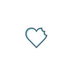 broken heart icon design lifestyle icon vector image