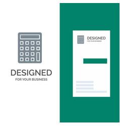 Calculator calculate education grey logo design vector