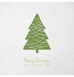 Christmas greeting card with hand drawn stylized vector image
