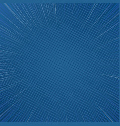 classic blue sunshine polar coordinate comic vector image