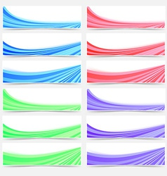 Colorful web business header footer banner set vector image