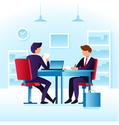 Contender work employees and job interview vector