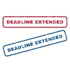 Deadline Extended Rubber Stamps vector